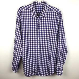 J. Crew Purple & White Gingham Button Up Shirt L